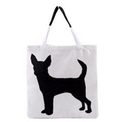 Chihuahua Silhouette Grocery Tote Bags