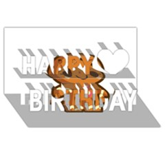 Gingerman Happy Birthday 3D Greeting Card (8x4)