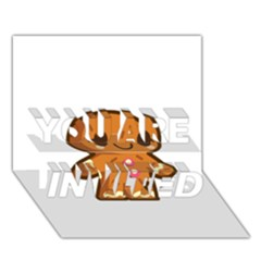 Gingerman YOU ARE INVITED 3D Greeting Card (7x5)
