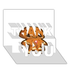 Gingerman THANK YOU 3D Greeting Card (7x5)
