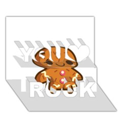 Gingerman You Rock 3D Greeting Card (7x5)