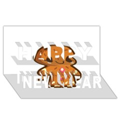Gingerman Happy New Year 3D Greeting Card (8x4)