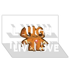 Gingerman Laugh Live Love 3D Greeting Card (8x4)