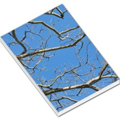 Leafless Tree Branches Against Blue Sky Large Memo Pads