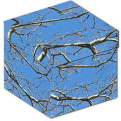 Leafless Tree Branches Against Blue Sky Storage Stool 12