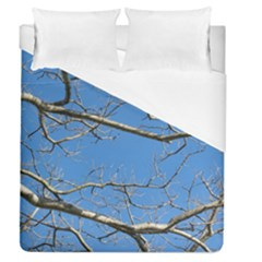 Leafless Tree Branches Against Blue Sky Duvet Cover Single Side (Full/Queen Size)