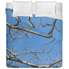 Leafless Tree Branches Against Blue Sky Duvet Cover (Double Size)