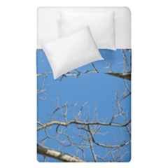 Leafless Tree Branches Against Blue Sky Duvet Cover (Single Size)