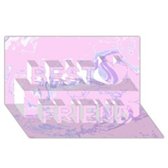 Unique Marbled 2 Baby Pink Best Friends 3d Greeting Card (8x4)