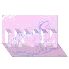Unique Marbled 2 Baby Pink MOM 3D Greeting Card (8x4)