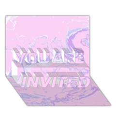 Unique Marbled 2 Baby Pink You Are Invited 3d Greeting Card (7x5)