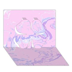 Unique Marbled 2 Baby Pink Clover 3D Greeting Card (7x5)