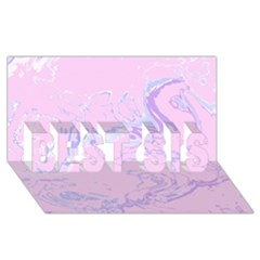 Unique Marbled 2 Baby Pink BEST SIS 3D Greeting Card (8x4)