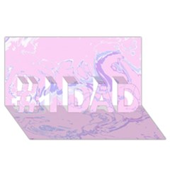 Unique Marbled 2 Baby Pink #1 DAD 3D Greeting Card (8x4)