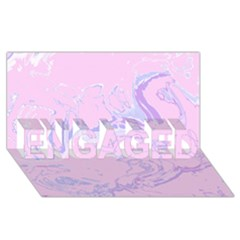 Unique Marbled 2 Baby Pink ENGAGED 3D Greeting Card (8x4)