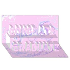 Unique Marbled 2 Baby Pink Congrats Graduate 3d Greeting Card (8x4)