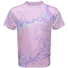Unique Marbled 2 Baby Pink Men s Cotton Tees