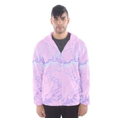 Unique Marbled 2 Baby Pink Hooded Wind Breaker (Men)