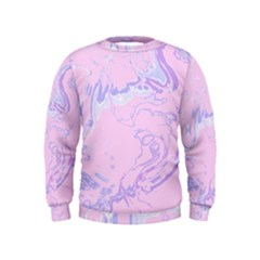 Unique Marbled 2 Baby Pink Boys  Sweatshirts