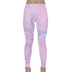 Unique Marbled 2 Baby Pink Yoga Leggings