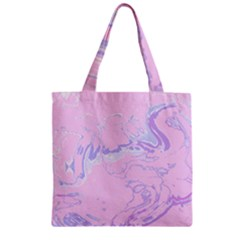 Unique Marbled 2 Baby Pink Zipper Grocery Tote Bags