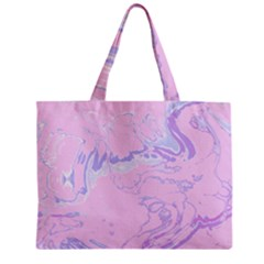 Unique Marbled 2 Baby Pink Zipper Tiny Tote Bags