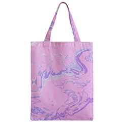 Unique Marbled 2 Baby Pink Zipper Classic Tote Bags