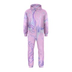 Unique Marbled 2 Baby Pink Hooded Jumpsuit (kids)