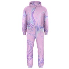 Unique Marbled 2 Baby Pink Hooded Jumpsuit (Men)