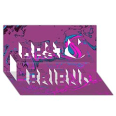 Unique Marbled 2 Hot Pink Best Friends 3D Greeting Card (8x4)