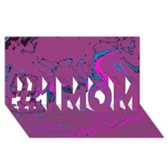 Unique Marbled 2 Hot Pink #1 MOM 3D Greeting Cards (8x4)