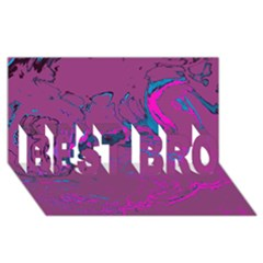 Unique Marbled 2 Hot Pink Best Bro 3d Greeting Card (8x4)