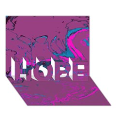 Unique Marbled 2 Hot Pink HOPE 3D Greeting Card (7x5)