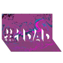 Unique Marbled 2 Hot Pink #1 DAD 3D Greeting Card (8x4)