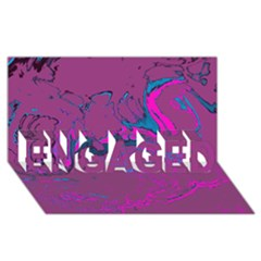 Unique Marbled 2 Hot Pink ENGAGED 3D Greeting Card (8x4)