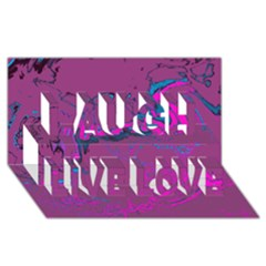 Unique Marbled 2 Hot Pink Laugh Live Love 3D Greeting Card (8x4)