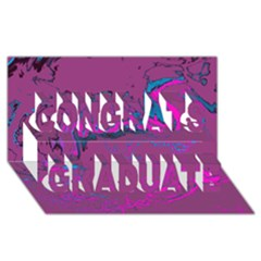 Unique Marbled 2 Hot Pink Congrats Graduate 3D Greeting Card (8x4)
