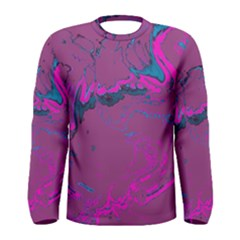 Unique Marbled 2 Hot Pink Men s Long Sleeve T-shirts