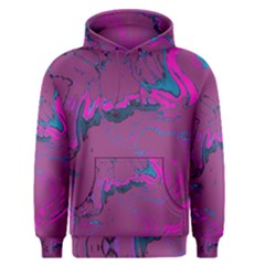 Unique Marbled 2 Hot Pink Men s Pullover Hoodies