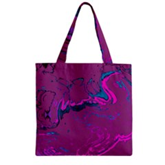 Unique Marbled 2 Hot Pink Zipper Grocery Tote Bags
