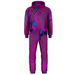 Unique Marbled 2 Hot Pink Hooded Jumpsuit (men)