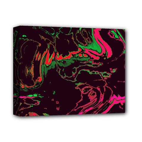 Unique Marbled 2 Tropic Deluxe Canvas 14  x 11