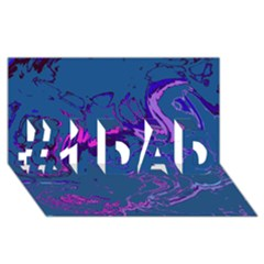 Unique Marbled 2 Blue #1 DAD 3D Greeting Card (8x4)