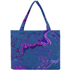 Unique Marbled 2 Blue Tiny Tote Bags