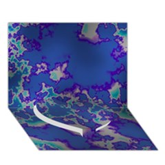 Unique Marbled Blue Heart Bottom 3D Greeting Card (7x5)