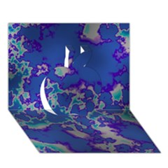 Unique Marbled Blue Apple 3D Greeting Card (7x5)