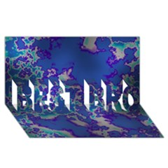 Unique Marbled Blue BEST BRO 3D Greeting Card (8x4)