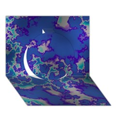 Unique Marbled Blue Circle 3D Greeting Card (7x5)