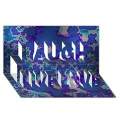 Unique Marbled Blue Laugh Live Love 3d Greeting Card (8x4)