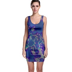 Unique Marbled Blue Bodycon Dresses